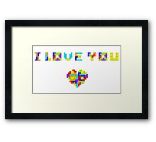 Tetris Love Framed Print
