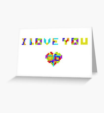Tetris Love Greeting Card