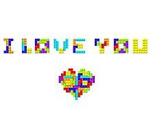 Tetris Love Photographic Print