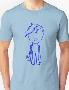 Radiogenic Scootaloo Outline (blue) Unisex T-Shirt