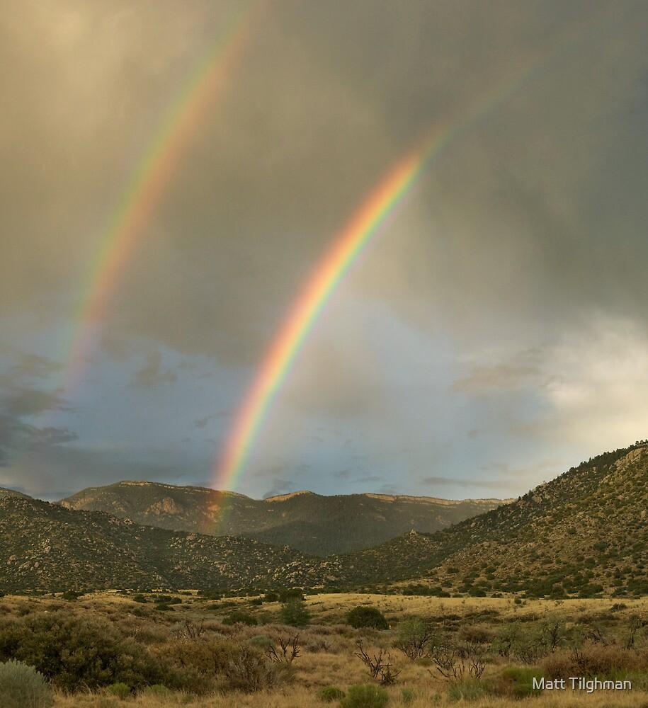 Double Rainbow over Sandias by Matt Tilghman