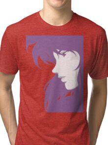 Ghost in the Shell - Major Motoko Kusanagi - PURPLE - (RENDER) Tri-blend T-Shirt