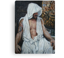 the gentle man  acrylic on canvas Canvas Print