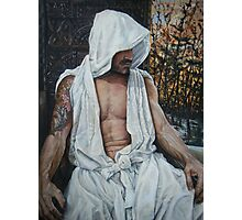 the gentle man  acrylic on canvas Photographic Print