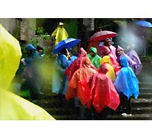 Colors Through the Rain Photographic Print