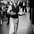 Waiter - Melbourne by Christine  Wilson Photography