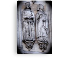 Westminster Abby Stonework Detail Canvas Print