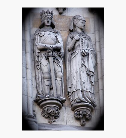 Westminster Abby Stonework Detail Photographic Print