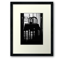 The Elegance of Hardwood Chairs Framed Print