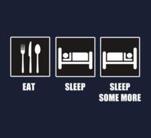 Eat Sleep Sleep Some More One Piece - Long Sleeve