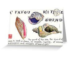 EDiM #2  a favourite sound Greeting Card