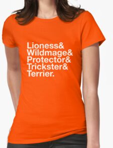 Tortall heroines: Titles Womens Fitted T-Shirt