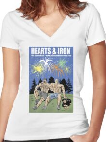 Hearts & Iron Fireworks shirt Women's Fitted V-Neck T-Shirt
