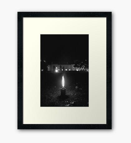Holy fire, Salamanca, Hobart Framed Print