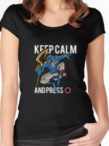 Sly Cooper - keep calm Women's Fitted Scoop T-Shirt