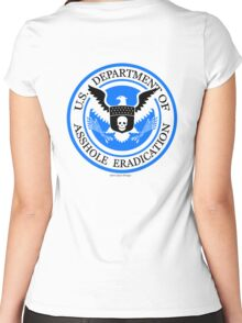 United States Department of Asshole Eradication Women's Fitted Scoop T-Shirt