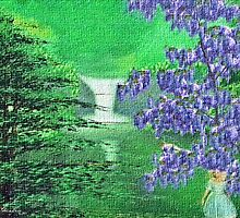 Green Spring Waterfall by Rue McDowell