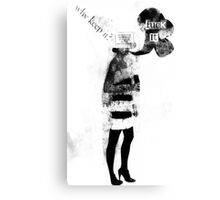 she doesn't care. Canvas Print