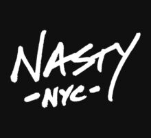 ONE WORD: Nasty - White Thick Script Tee by 1WORD