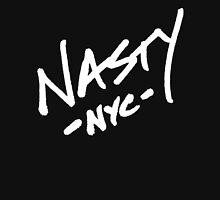 ONE WORD: Nasty - Oversized White Thick Script Tee Unisex T-Shirt