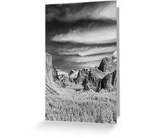 Yosemite Sky Rake (portrait crop) Greeting Card