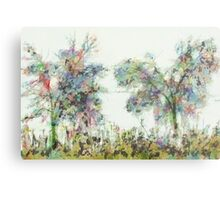 Colorful winter scene Metal Print