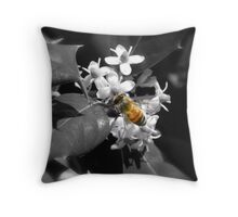 Honey Bee & Holly Throw Pillow