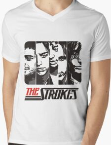 The Strokes Band Music T-Shirt Mens V-Neck T-Shirt