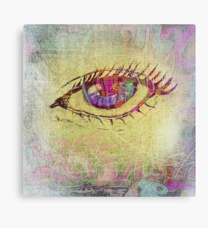 Graffiti Doodle Eye Canvas Print