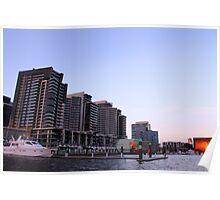 Sunset at Docklands Poster
