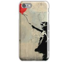 Banksy Red Heart Balloon iPhone Case/Skin