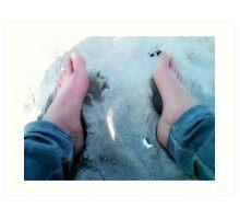 Beach feet Art Print