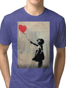 Banksy Red Heart Balloon Tri-blend T-Shirt