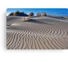 Shapes and patterns in the sand CHALLENGE Canvas Print
