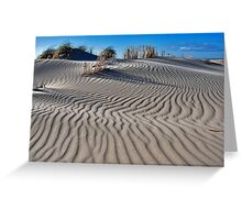 Shapes and patterns in the sand CHALLENGE Greeting Card