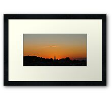 Sunset @ The Fort Framed Print