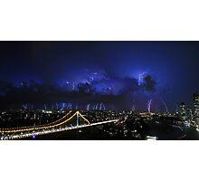 Multiple Exposure   Lightning II Photographic Print