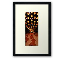 Shoes To Sky | Buddha Birth Day Festival Framed Print