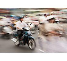 Ho Chi Minh motorbikes Photographic Print