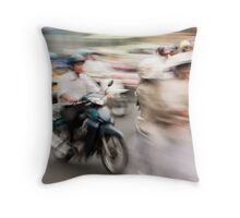 Ho Chi Minh motorbikes Throw Pillow