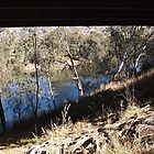 FRAMED - Under the Bridge, Goulburn Valley Hway Tallarook Vic Australia by Margaret Morgan (Watkins)