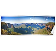 Blue Mountains NSW Panoramic Poster