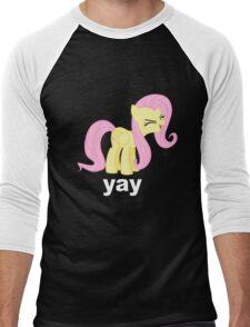 Fluttershy Yay Men's Baseball ¾ T-Shirt