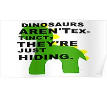 The Jurassic truth.  Poster