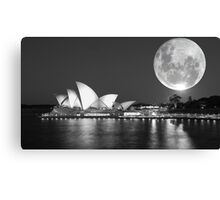 Full moon over Sydney Opera House - Australia Canvas Print