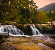 Falls of Dochart Scotland 2 by mlphoto