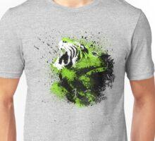 Emerald Roar - Splattered Green Tiger Unisex T-Shirt