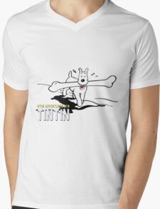 Tintin Adventures Mens V-Neck T-Shirt