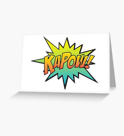KAPOW! Greeting Card
