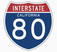 Interstate Sign 80 California, USA Baby Tee